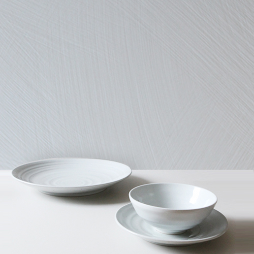 Casual line Dinnerware, Snow Flower 3 Piece Place Setting