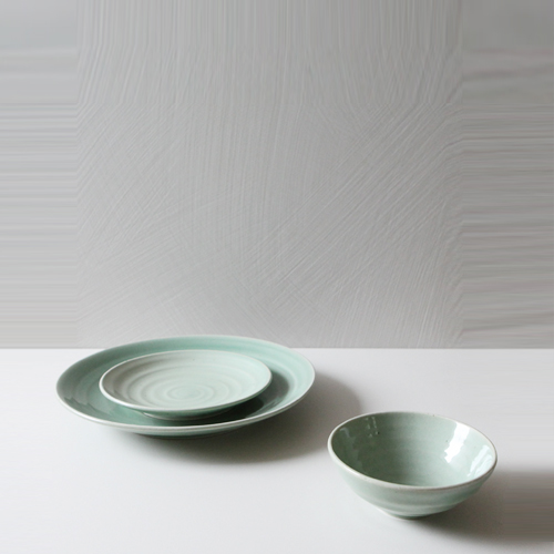 Casual line Dinnerware,Pinetree 3 Piece Place Setting