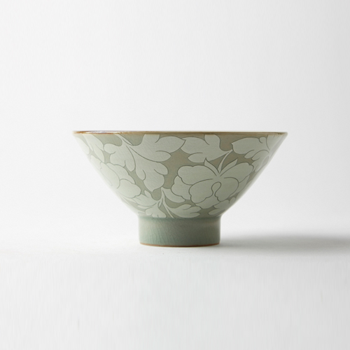 Heritage Celadon Full pattern Tea Bowl