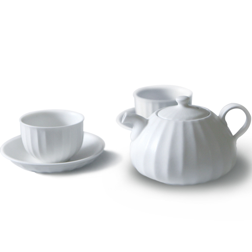 MIGAK LUCKY BAG TEA POT SET_MATT WHITE(WHITE BLUE)