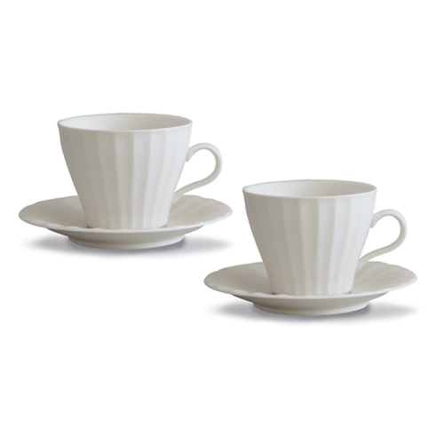 MIGAK COFFEE CUP SET FOR 2_SNOW WHITE(IVORY)